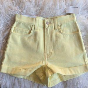 American apparel high waist cuff shorts